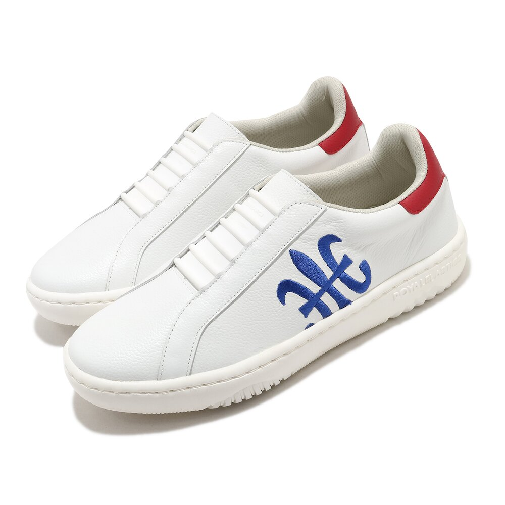 ROYAL ELASTICS 休閒鞋 Astre 套腳 穿搭 男鞋 基本款 皮革 質感 簡約 舒適 輕便 白 藍 [06902051]