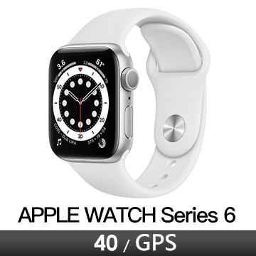 Apple Watch S6 GPS 40/銀鋁/白運動錶帶(MG283TA/A)
