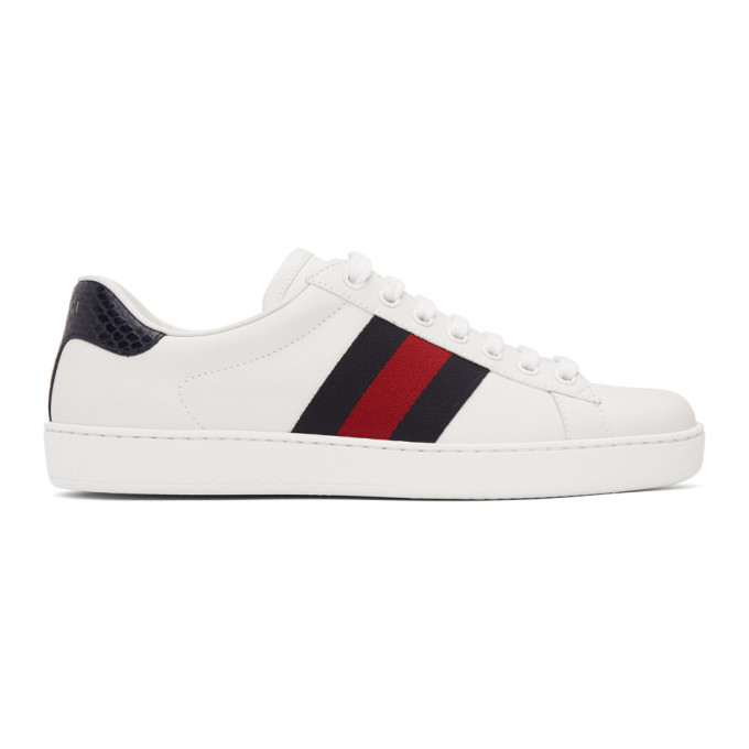 Gucci 白色 Ace 运动鞋