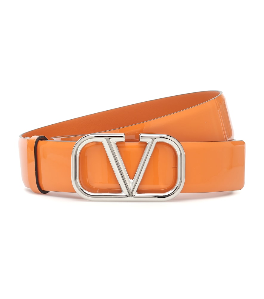 Valentino Garavani VLOGO patent leather belt