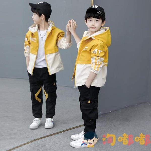童裝男童秋裝外套兒童韓版中大童男孩沖鋒衣潮【淘嘟嘟】