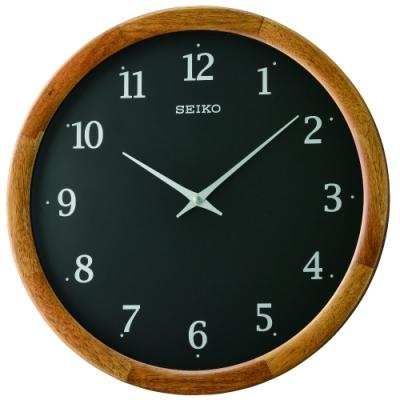 SEIKO 日本精工 木質外殼 掛鐘 時鐘(QXA763Z)35.6cm