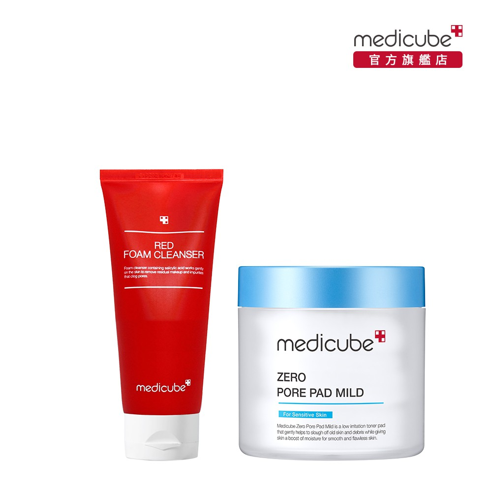 【medicube】ZERO 毛孔爽膚棉(溫和版)+RED抗痘潔面乳120ml
