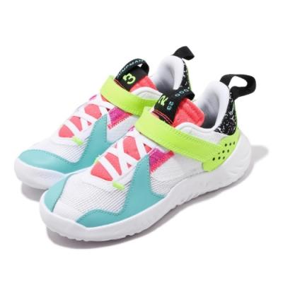 Nike 休閒鞋 Jordan Delta 運動 童鞋 喬丹 魔鬼氈 舒適 透氣 中童 球鞋 白 黃 CT1566170