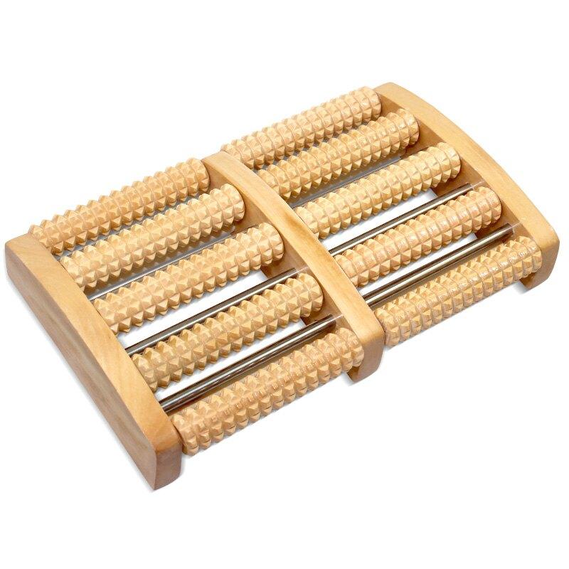 足底按摩凳 木質腳底按摩器滾輪式足底滾珠
