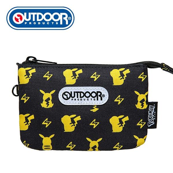 【橘子包包館】OUTDOOR Pokemon聯名款潮黑皮卡丘三層零錢包-黑色 ODGO20B10BK 零錢包