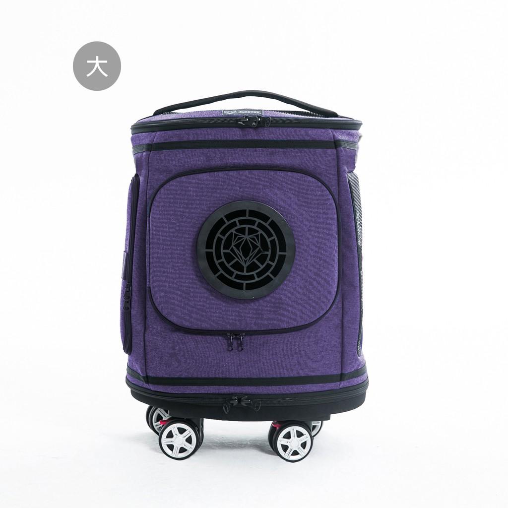 PurrPaw 呼嚕抱抱|Barrel Rider 酒桶寵物拉桿背包(大)-藤花紫