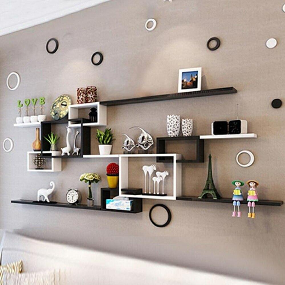 裝飾架 墻上置物架客廳電視沙發餐廳臥室背景墻櫃免打孔壁掛墻壁裝飾jy