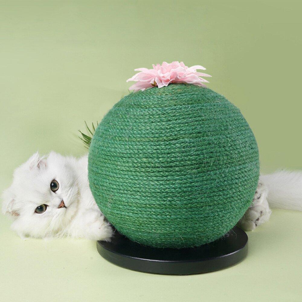 ZEZE 編織仙人掌貓抓球(底座黑白色隨機出貨)
