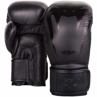 [古川小夫] 頂級拳套VENUM GIANT 巨人系列拳擊手套~專業收藏版-消光黑毒蛇 14oz 2055114