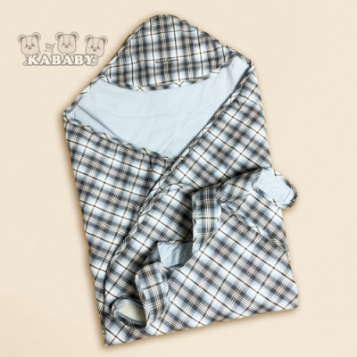【金安德森】 KA棉質水格紋包巾(春夏款)