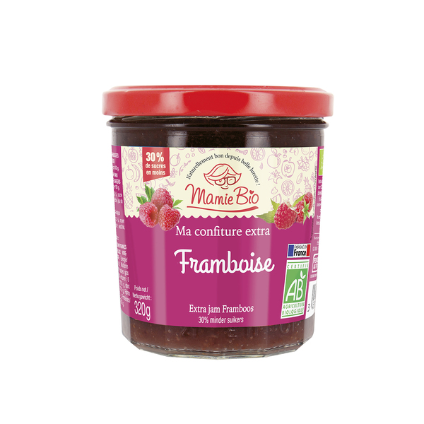 [Mamie Bio莓歐] 有機減糖覆盆子果醬 (320g/罐) (全素)