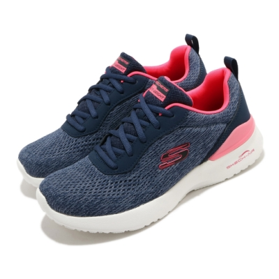 Skechers 慢跑鞋 Skech-Air Dynamight 女鞋 氣墊 避震 緩衝 支撐 記憶型泡棉鞋墊 藍 粉 149340NVCL