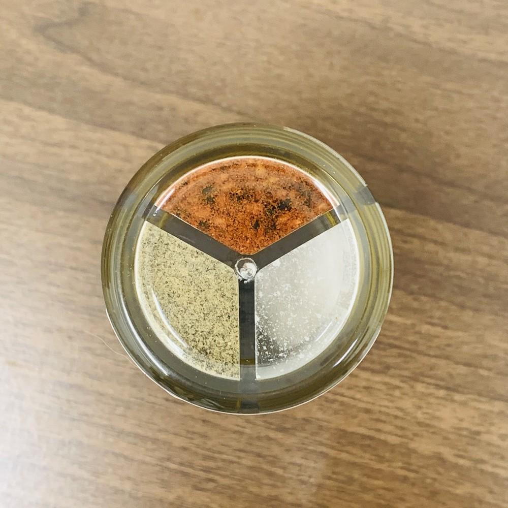 韓國 三色調味罐 59g 一罐抵三罐 [不倒翁] 辣椒粉 黑胡椒 調味罐 鹽 調味料 精鹽
