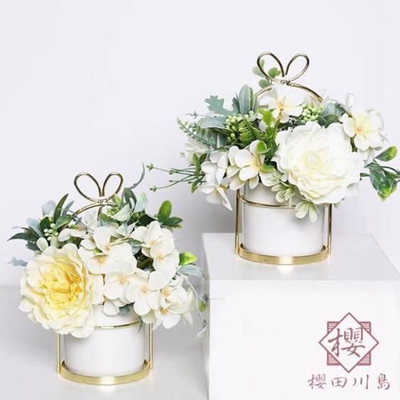 仿真花假花擺件干花束北歐茶幾桌面裝飾花擺設