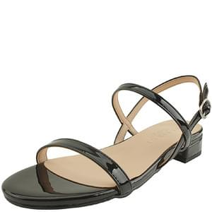 韓國空運 - Minimal Enamel Flat Sandals Black 涼鞋