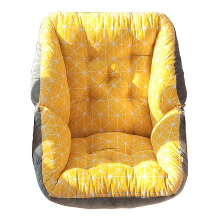 一體椅墊坐墊辦公室久坐椅墊靠墊一體椅子靠背墊臥室地上凳子座墊冬季毛絨