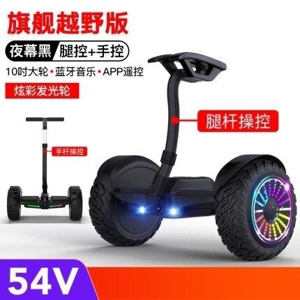 平衡車 電動自平衡車雙輪成年智慧兒童越野10寸兩輪代步平行車帶扶桿