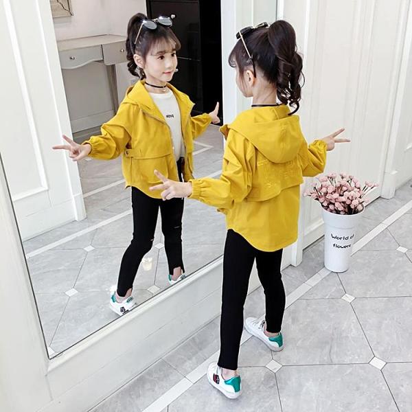 女童外套2020新款秋裝韓版兒童洋氣網紅上衣春秋季小女孩夾克童裝 蘿莉小腳丫
