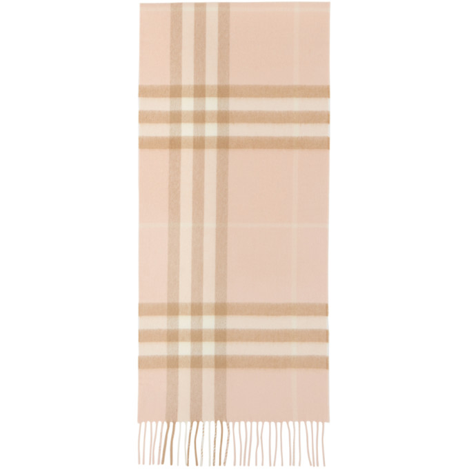 Burberry 粉色 Giant Check 围巾