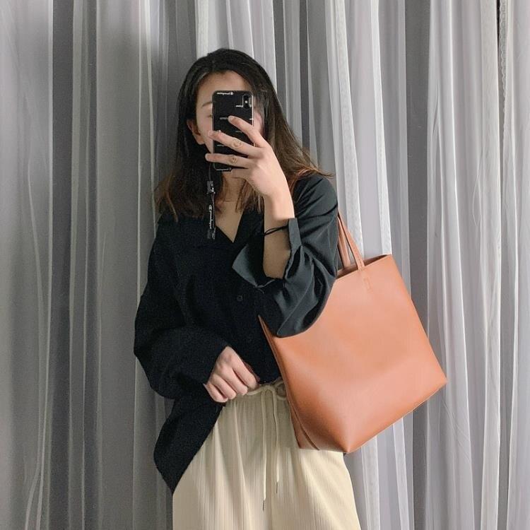 單肩包女大包包2020新款韓版百搭大容量購物袋簡約托特包手提女包 秋冬新品特惠