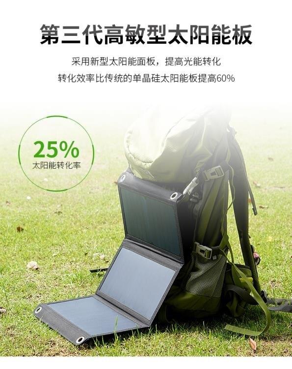 太陽能發電板手機充電包戶外便攜式摺疊包充電器5v輸出行動電源寶  LX HOME 新品 全館限時8.5折特惠!
