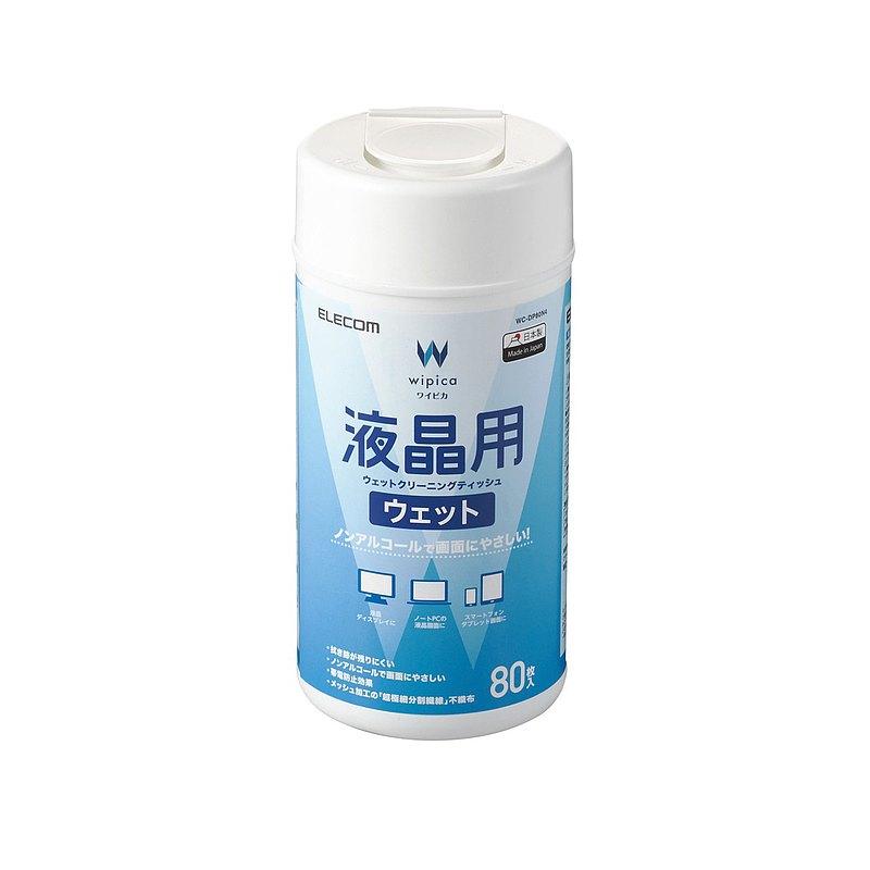 ELECOM 無酒精液晶螢幕擦拭巾v4 /80 抽
