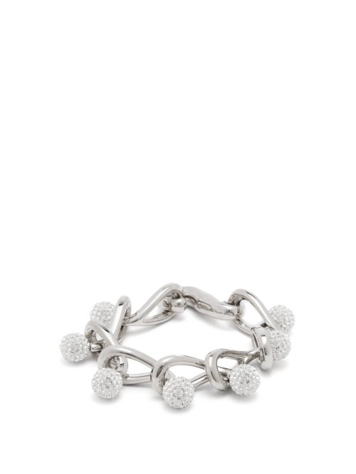 Loewe - Drop Crystal-embellished Chain Bracelet - Womens - Crystal