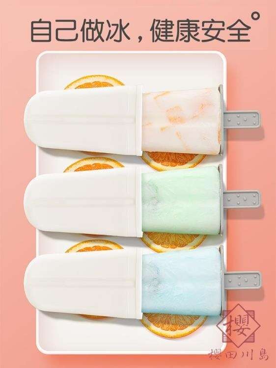 2個裝 雪糕模具套裝家用自制冰棒冰糕冰棍冰淇淋制冰模型【櫻田川島】
