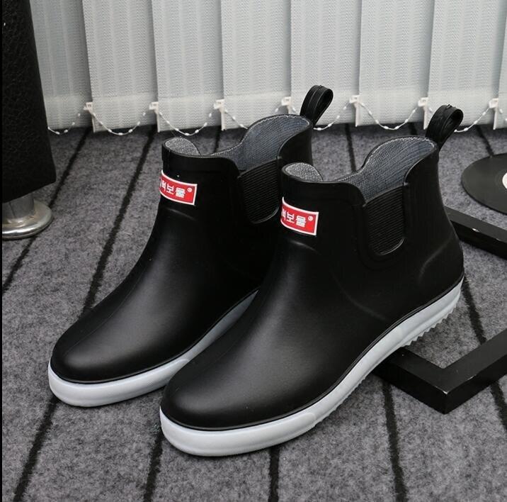 防滑雨鞋男潮時尚膠鞋膠靴雨靴春夏季水靴防水鞋 「時尚彩紅屋」