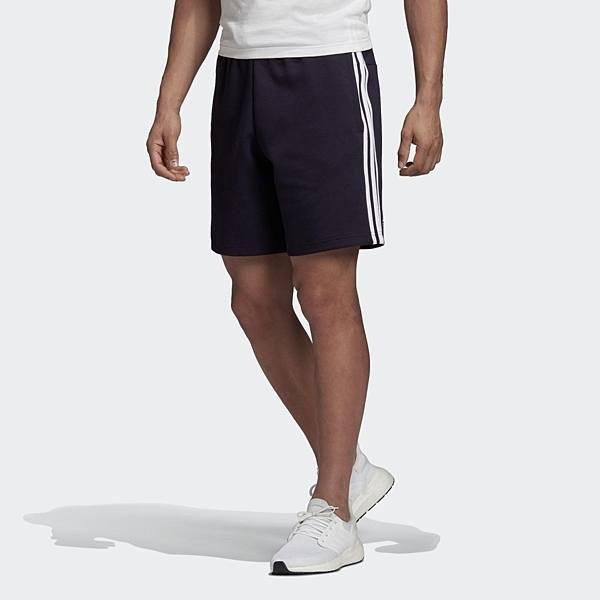 ADIDAS 短褲 3-STRIPES 黑 白LOGO 三線 休閒 運動褲 男 (布魯克林) FT2954