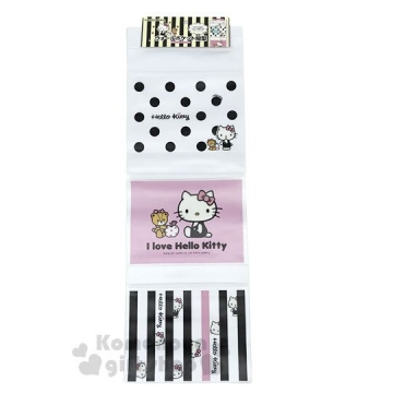〔小禮堂〕Hello Kitty 壁掛收納袋《3格.銅板小物》