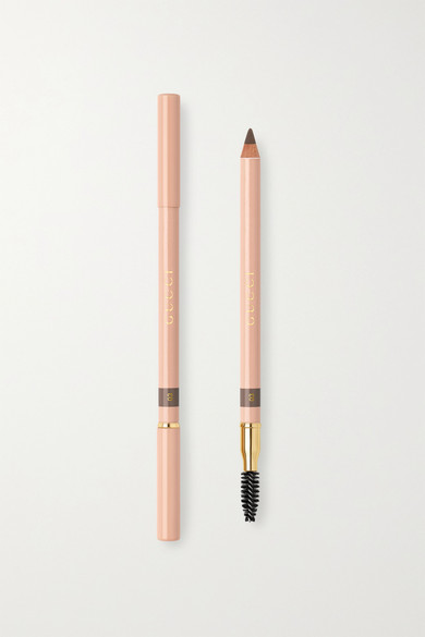 Gucci Beauty - 丝滑双头眉笔(色号:light Brown) - 棕色 - one size