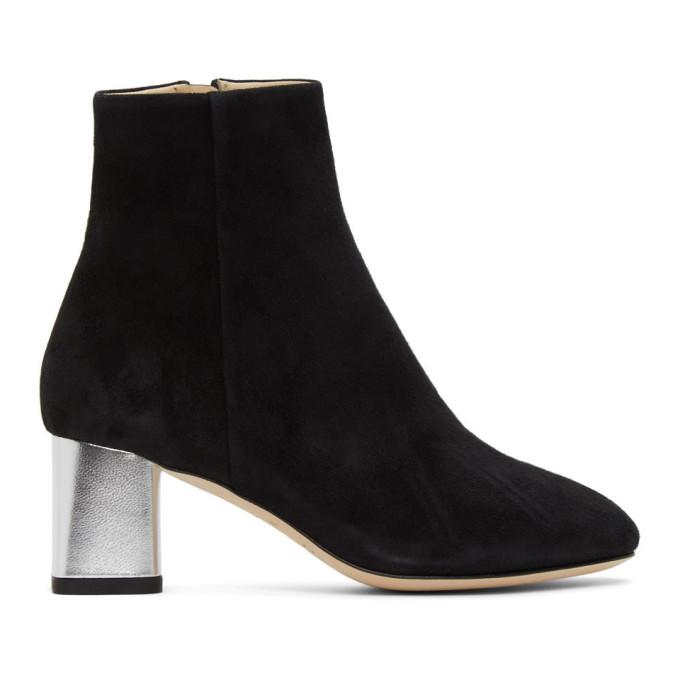 Repetto 黑色 Melo 绒面革中跟踝靴