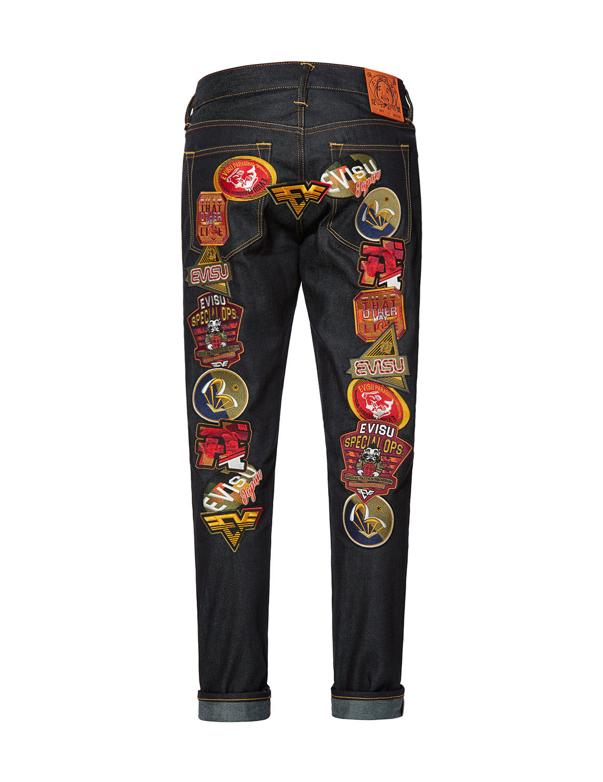 Multi Badges Daicock Carrot Fit Jeans #2017
