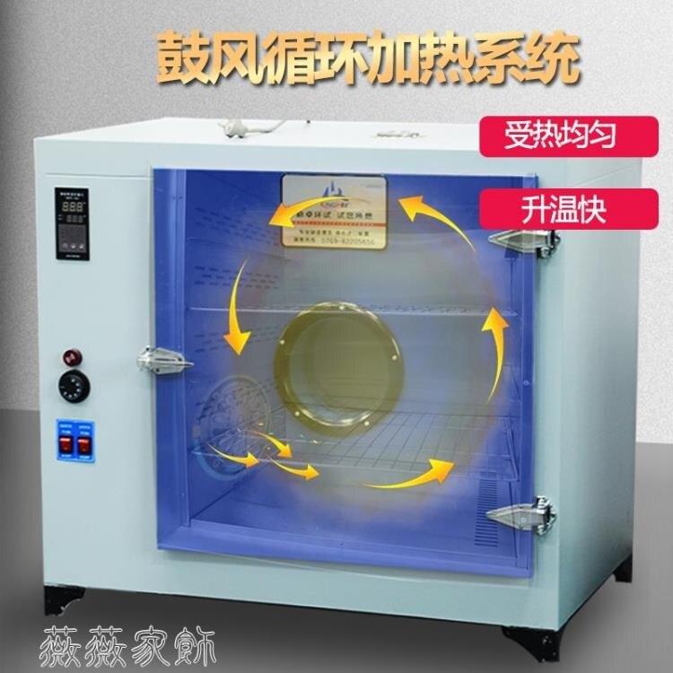 鼓風干燥箱 高溫烘箱工業烤箱烘干機恒溫試驗箱實驗電熱鼓風干燥箱300度500度 七色堇 七色堇 新年春節  送禮