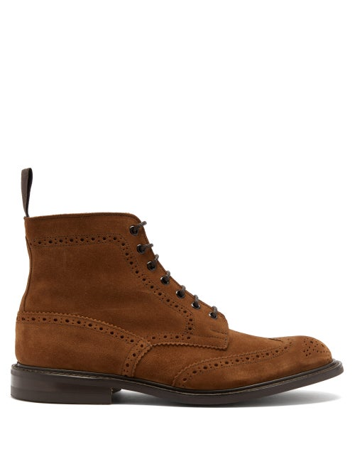 Tricker's - Stow Lace-up Suede Ankle Boots - Mens - Tan