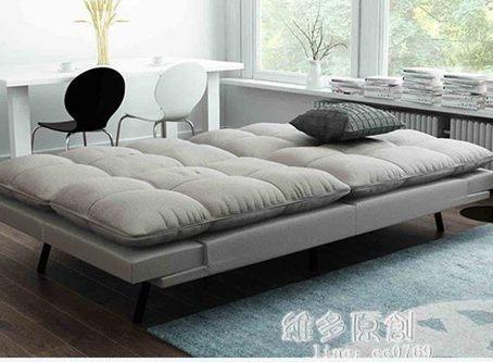 沙發床索菲亞莫特沙發床多功能折疊式布藝客廳沙發兩用懶人沙發可變床全館促銷限時折扣