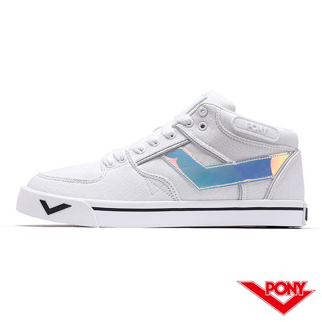 【PONY】ATOP系列滑板鞋-女款-白/雜色