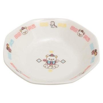 懶懶熊 拉拉熊 八角形陶瓷盤湯匙組《中國服》炒飯盤.沙拉盤.調羹