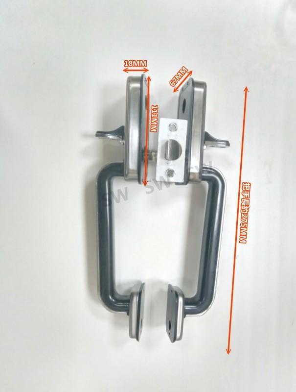 特價 SD2205-00 不銹鋼白鐵下座把手 暗閂雙把手 大把手 無鑰匙 防盜門 硫化銅門 門鎖 大把手鎖 金冠牌