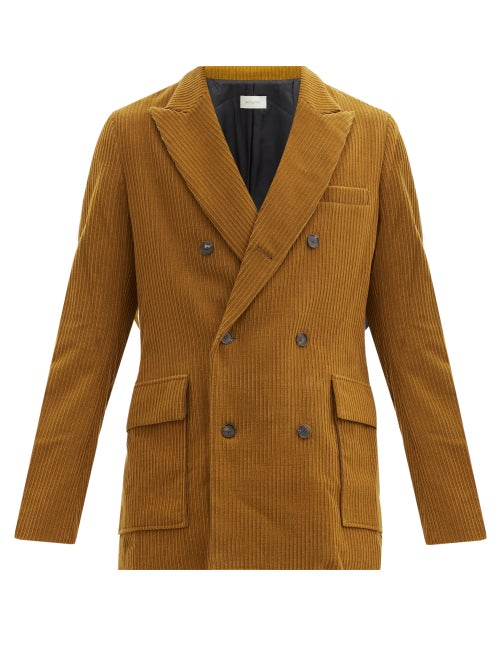 Bed J.w. Ford - Double-breasted Corduroy Jacket - Mens - Brown