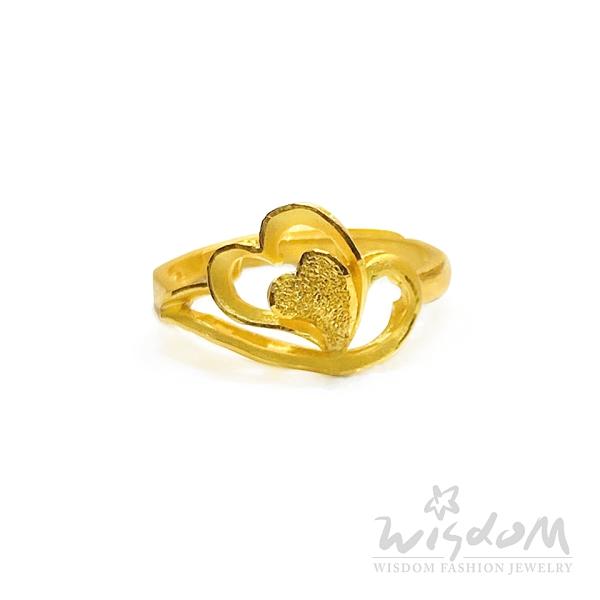 威世登 黃金心型戒 金重約0.87~0.89錢 GJ00162A-EEX-FIX