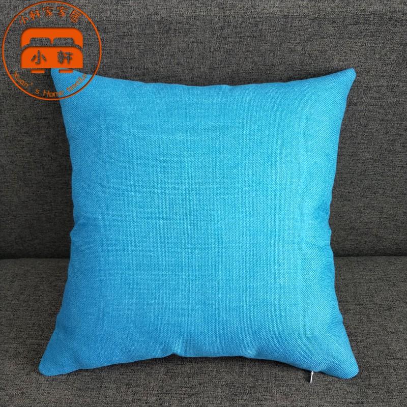 簡約純色抱枕 親膚 超柔軟 超彈力 沙發枕 兩面抱枕 抱枕 辦公室 午睡靠枕 多款任選 小軒家家居