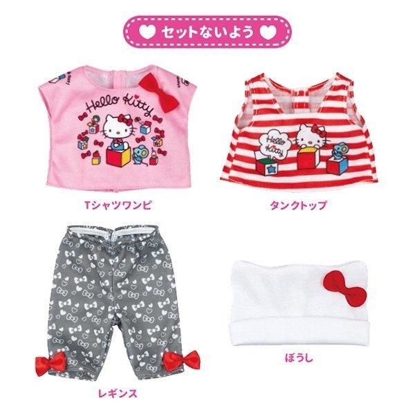 小禮堂 小美樂娃娃 x Hello Kitty  玩偶衣服 洋娃娃 配件 兒童玩具 (紅白)