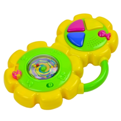 《小小音樂家》太陽花造型兒童成長益智音樂聲響樂器玩具-鼓造型