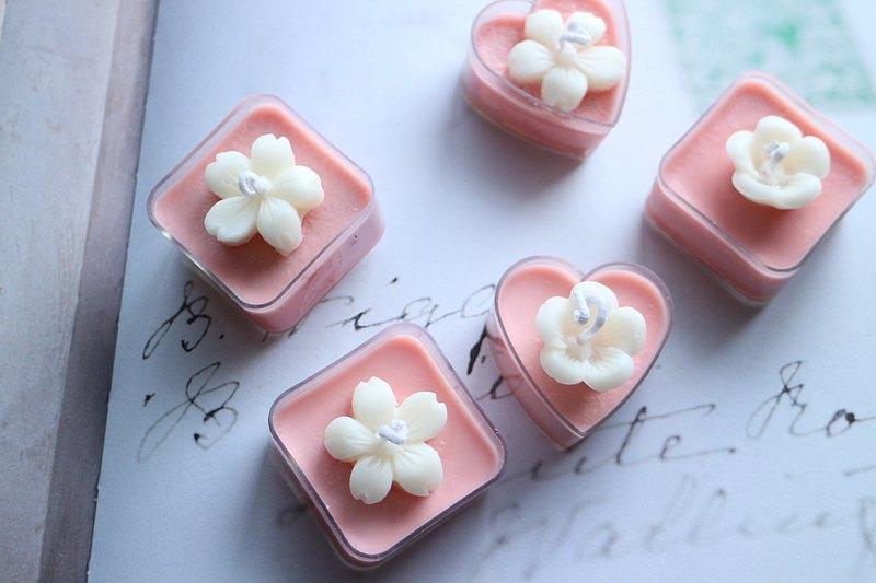 花瓣茶蠟燭 純天然大豆蠟