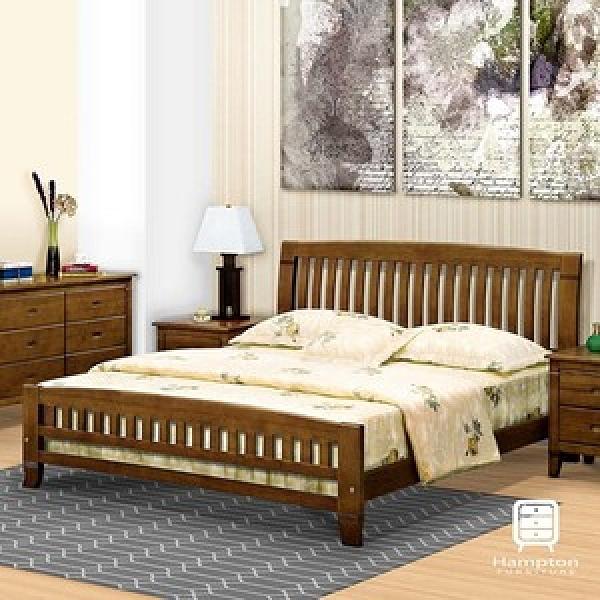 【Hampton 漢汀堡】蘭卡系列黃檀實木5尺床-床片型