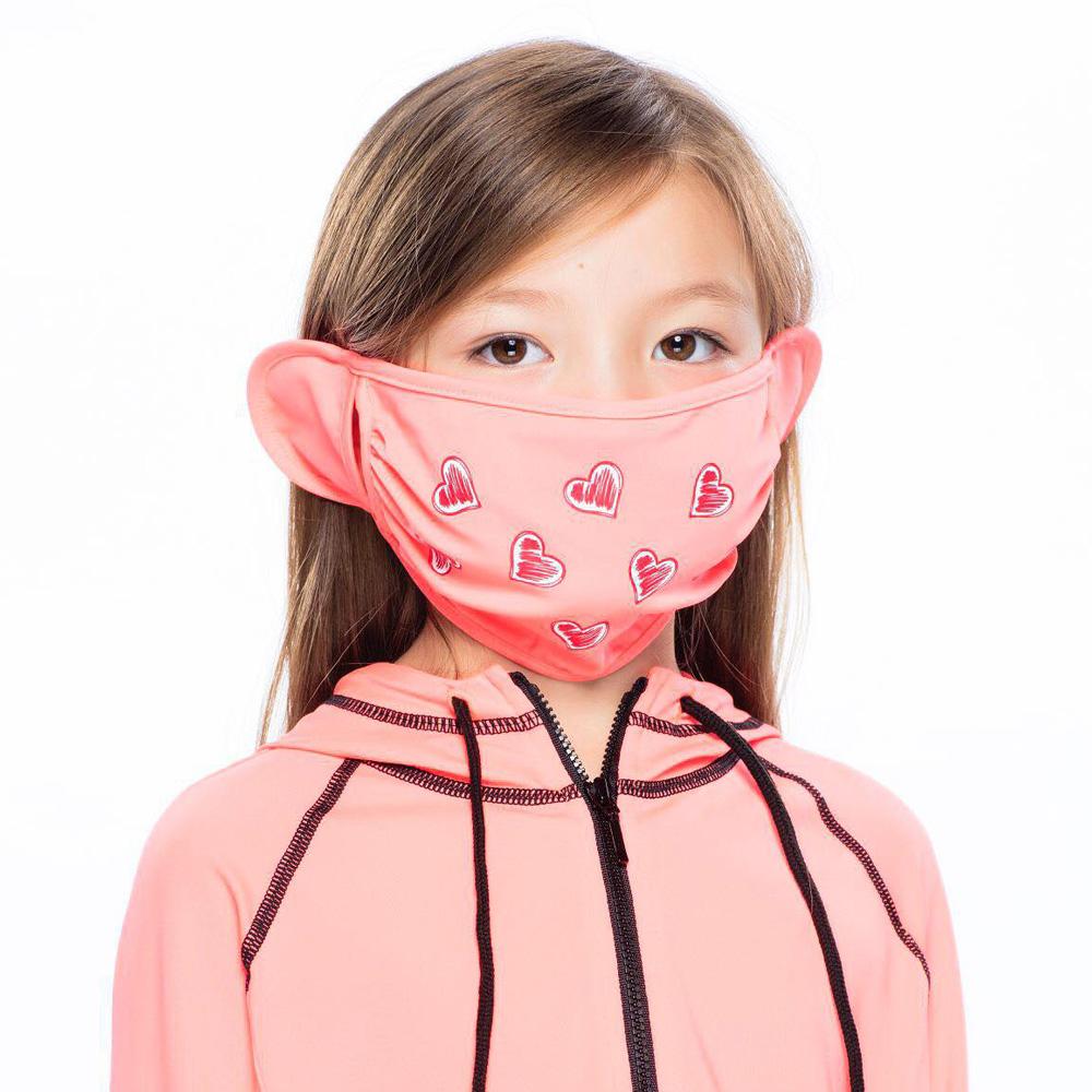 【HOII后益】心型美膚口罩-兒童(三色:黃/紅/藍)