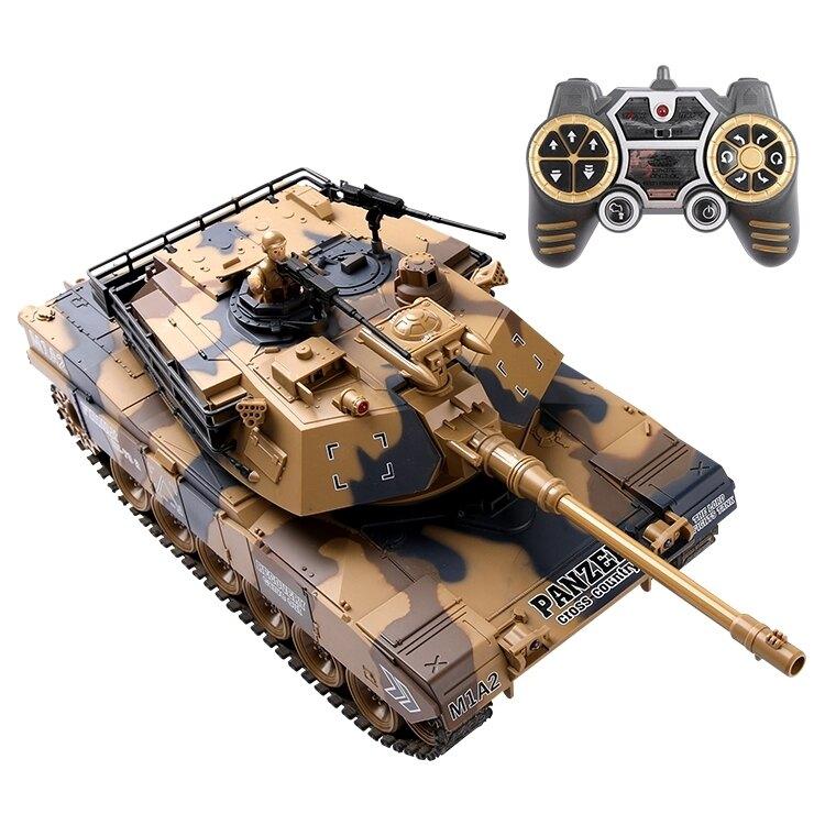 玩具車遙控坦克可發射打子彈充電對戰電動兒童汽車超大號履帶式男孩玩具凱斯盾數位3C 交換禮物 送禮